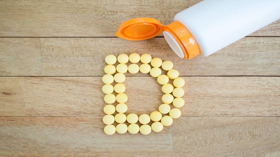 Vitamin D & Prostate Cancer Risk -- bottle of vitamin D capsules
