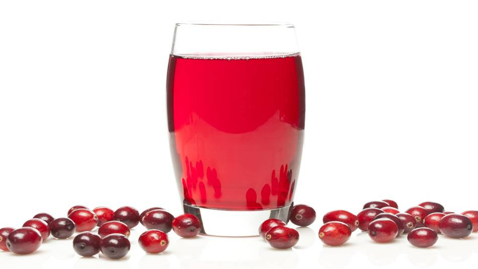 Cranberry Juice for UTIs? -- cranberries and a glass of cranberry juice