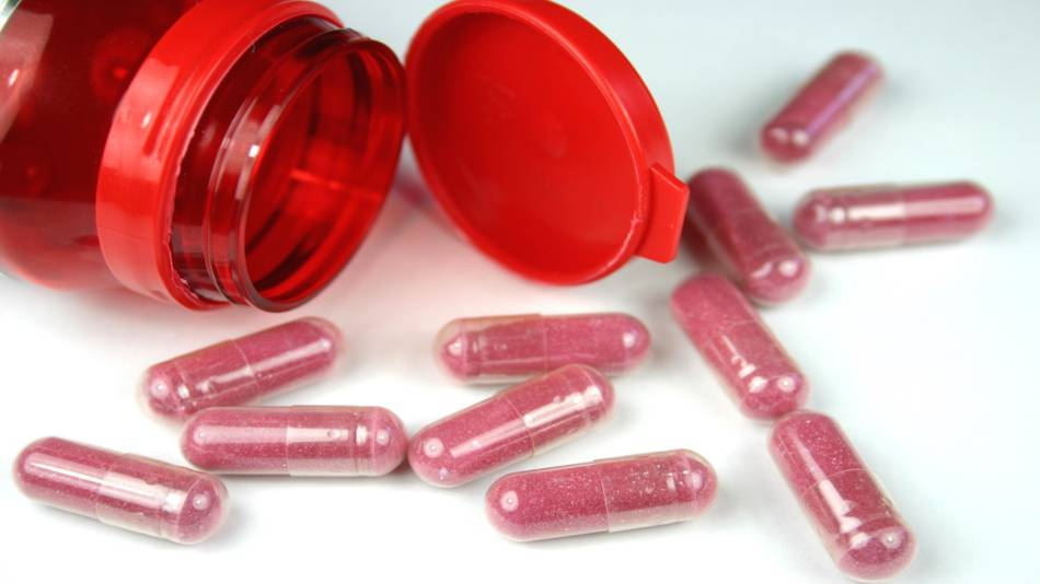 Cranberry Supplements for Men? -- Bottle of cranberry capsules