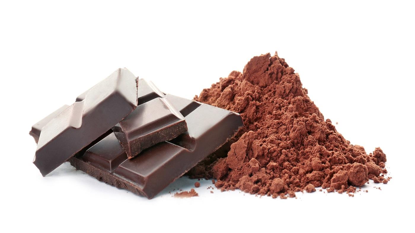 Flavanols in Dark Chocolate and Cocoa -- Dark chocolate bar and cocoa powder,