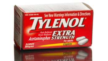 Acetaminophen (Tylenol) Interactions With Supplements -- box of Tylenol