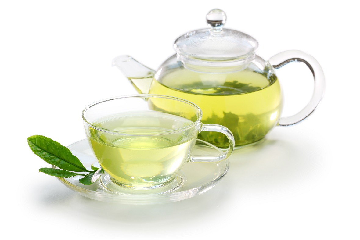 Green Tea for Flu? -- teapot with green tea
