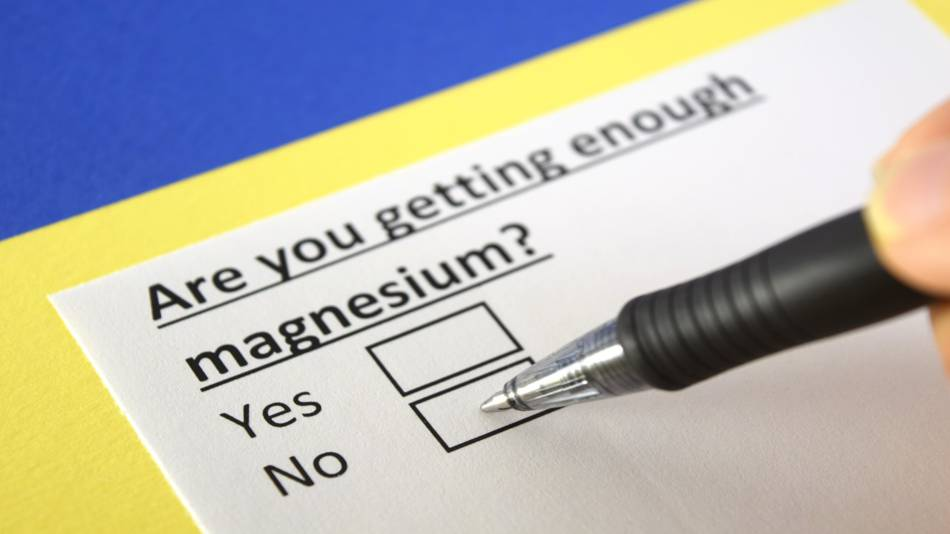 Magnesium Deficiency -- check list on paper 'Are you getting enough magnesium?'
