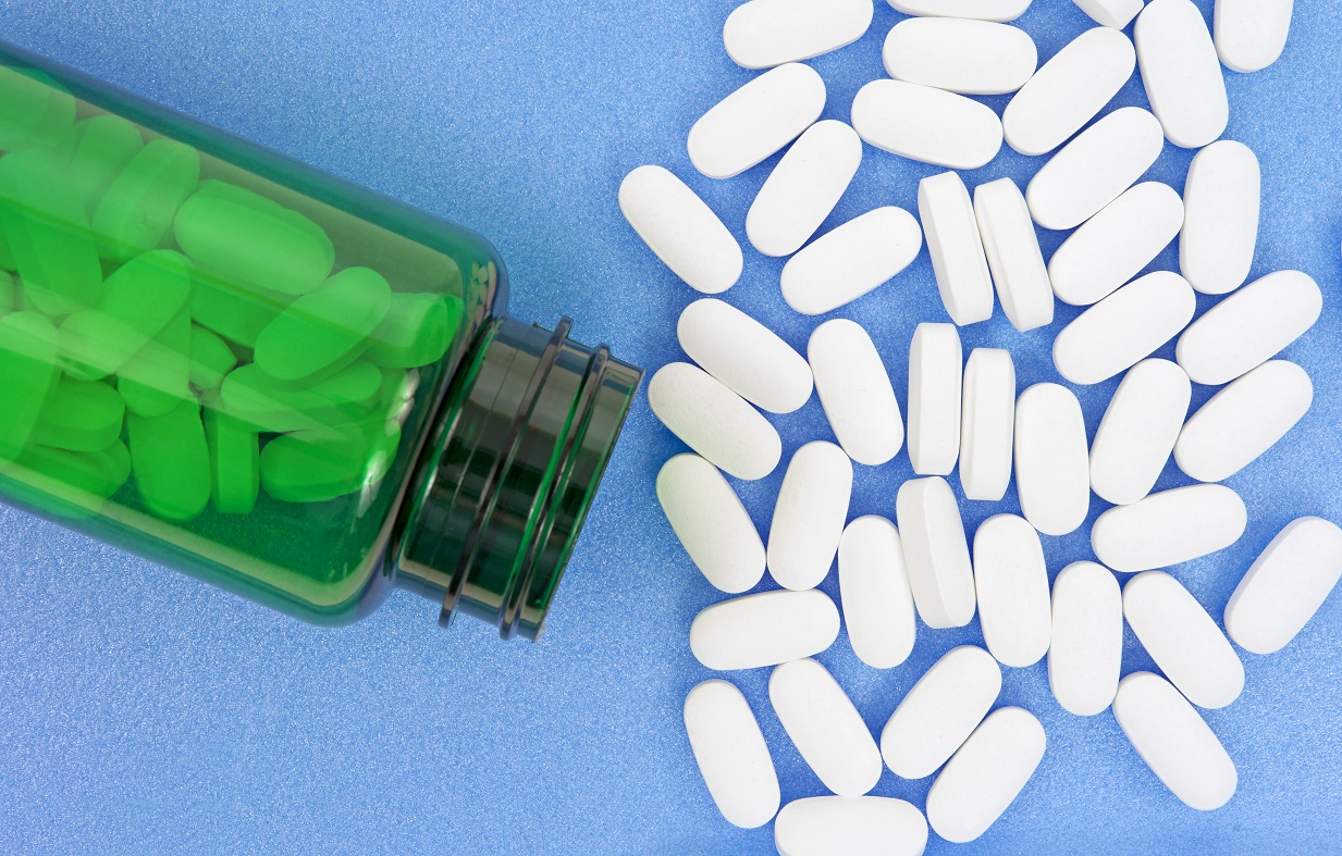 Magnesium for Depression? -- Bottle of Magnesium Tablets