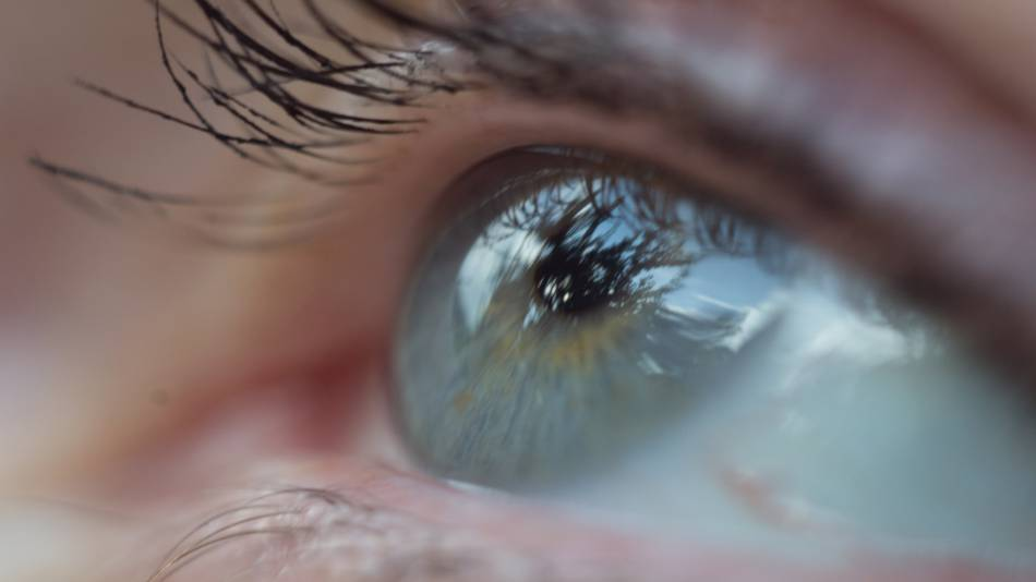 How to Reduce Eye Floaters With Vitamins & Supplements -- Close-up of an eye
