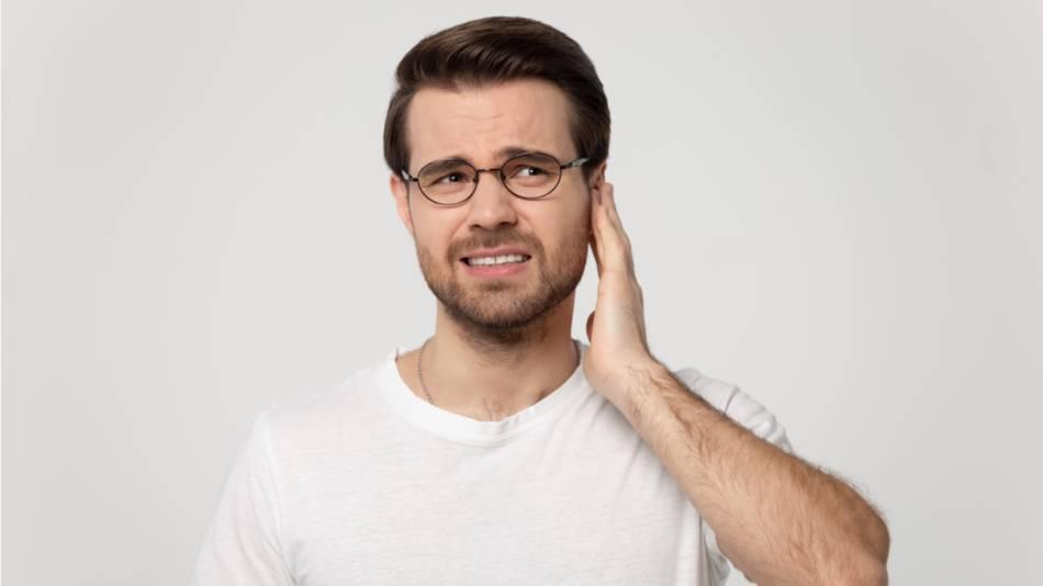 Lipo-Flavonoid & Ear Problems -- Man with ear pain