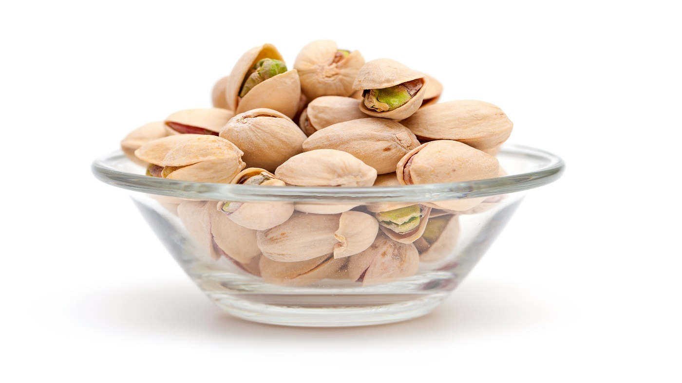 Melatonin in pistachio nuts -- bowl of pistachio nuts