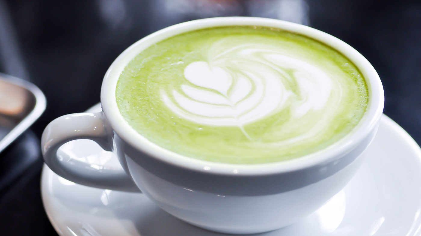 Adding milk to green tea? --cup of green tea with milk