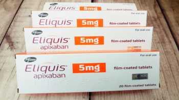 Eliquis Supplement Interactions -- box of Eliquis