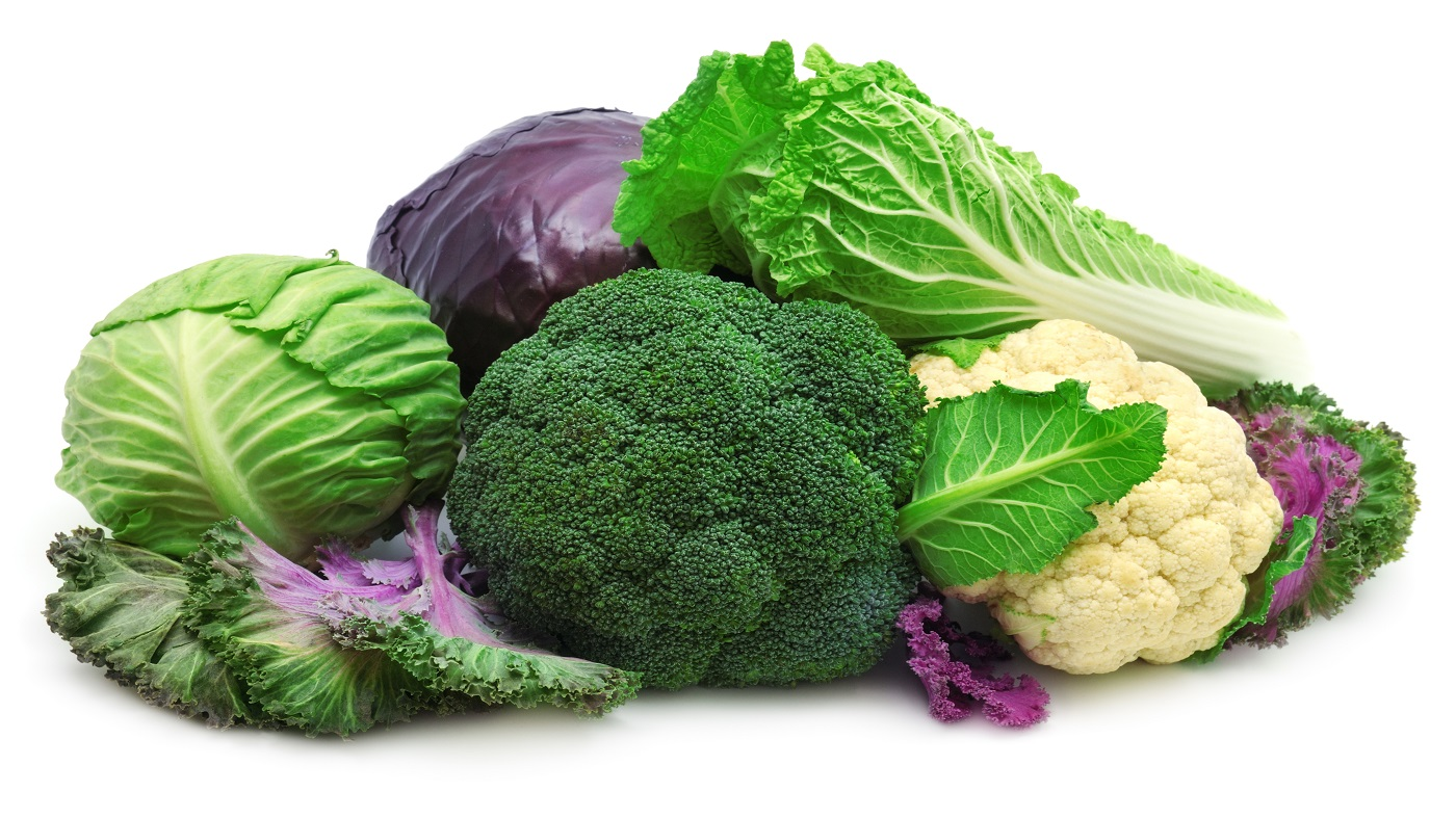 Indole-3-carbinol (I3C) and Cancer Risk -- bunches of broccoli, cabbage and cauliflower