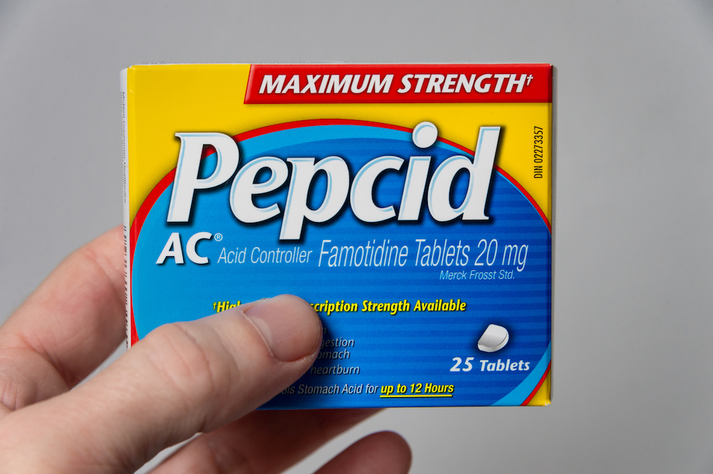 Can Pepcic (famotidine) Treat COVID-19? -- Box of Pepcid and Handout About COVID-19