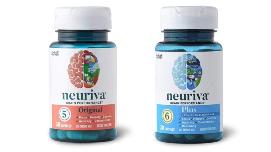 Bottles containing capsules of Neuriva Original and Neuriva Plus