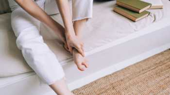 Supplements for Plantar Fasciitis -- Woman With Heel Pain
