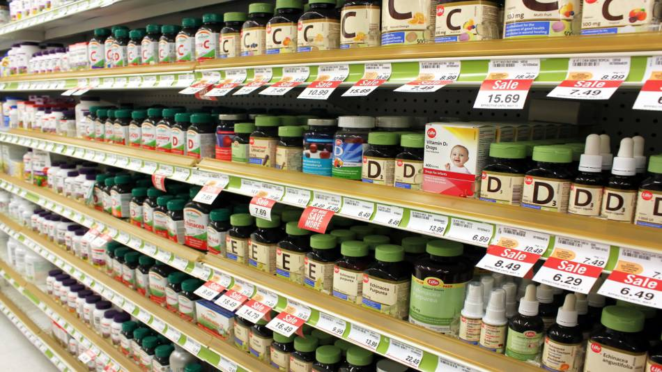 Cost and Quality of Dietary Supplements -- supplement bottles on store shelves
