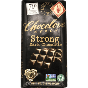 Chocolove Strong Dark Chocolate - 70% Cocoa Content