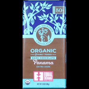 Equal Exchange Chocolates Organic Panama Extra Dark
