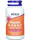 NOW Vitamin D-3 & K-2