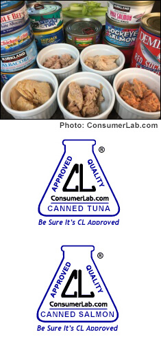 Canned tuna and salmon reviewed by ConsumerLab.com