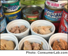 Canned tuna, salmon and sardines reviewed by ConsumerLab.com