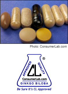 Ginkgo Biloba Supplements Tested by ConsumerLab.com