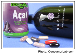 Acai berry supplements and beverages reviewed by ConsumerLab.com