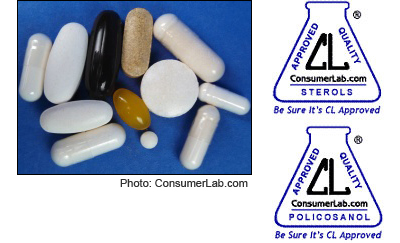 Sterol, Stanol, and Policosanol Supplements for Cholesterol-lowering Reviewed by ConsumerLab.com
