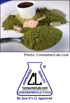 Greens and Whole Food Supplements reviewed by ConsumerLab.com