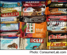 Nutrition Bars Reviewed by ConsumerLab.com (Energy, Fiber, Meal Replacement, Protein, and Whole Food Bars)