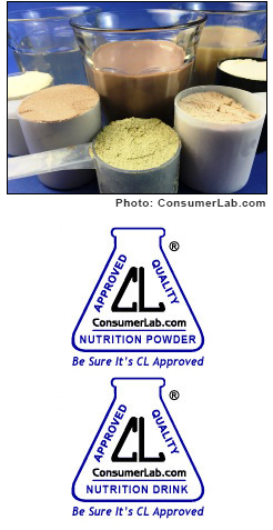 Protein, Meal, and Diet Powders, Shakes, and Drinks Tested by ConsumerLab.com