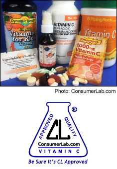 Vitamin C Supplements Tested by ConsumerLab.com