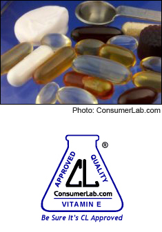 Vitamin E Supplements, Cream, and Oil Tested by ConsumerLab.com